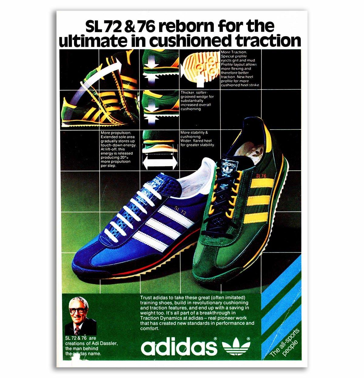 adidas SL 72 & 76 - Vintage ad.