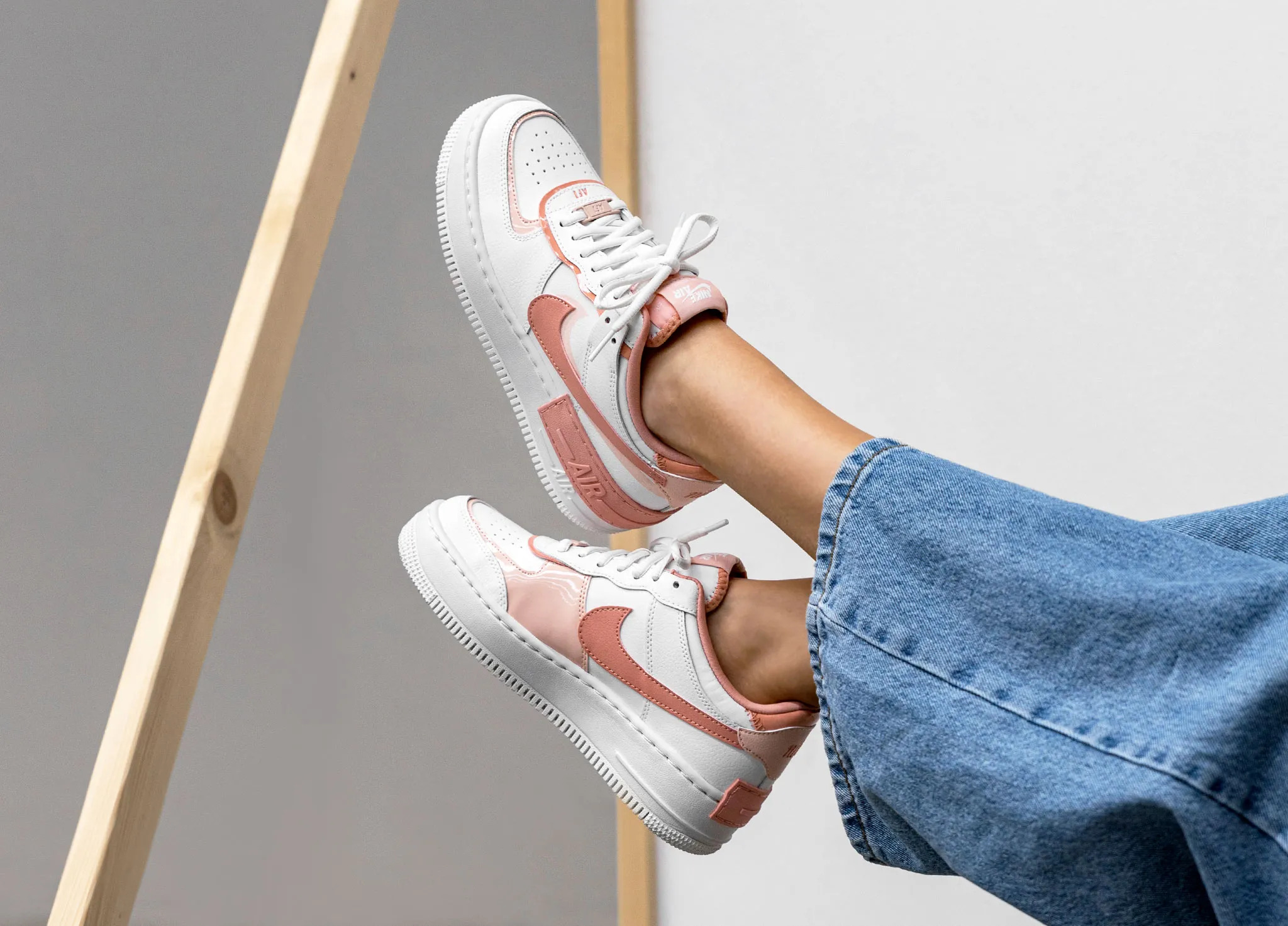 air force 1 shadow blanche et rose