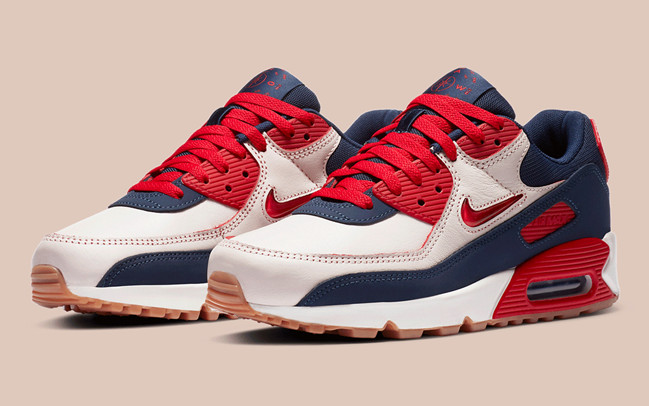 Nike Air Max 90 PRM ''Home and Away'' ''University Red'' CJ0611 101 Sneaker Style