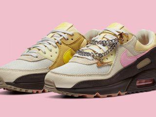 NikeWMNS Air Max 90 ''Velvet Brown/Pink'' - ''Cuban Link''