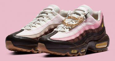 NikeWMNS Air Max 95 ''Velvet Brown/Pink'' - ''Cuban Link''