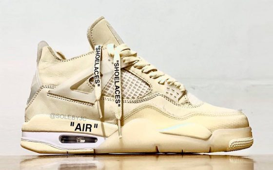 Off-White x Air Jordan 4 ''Sail'' - CV9388-100