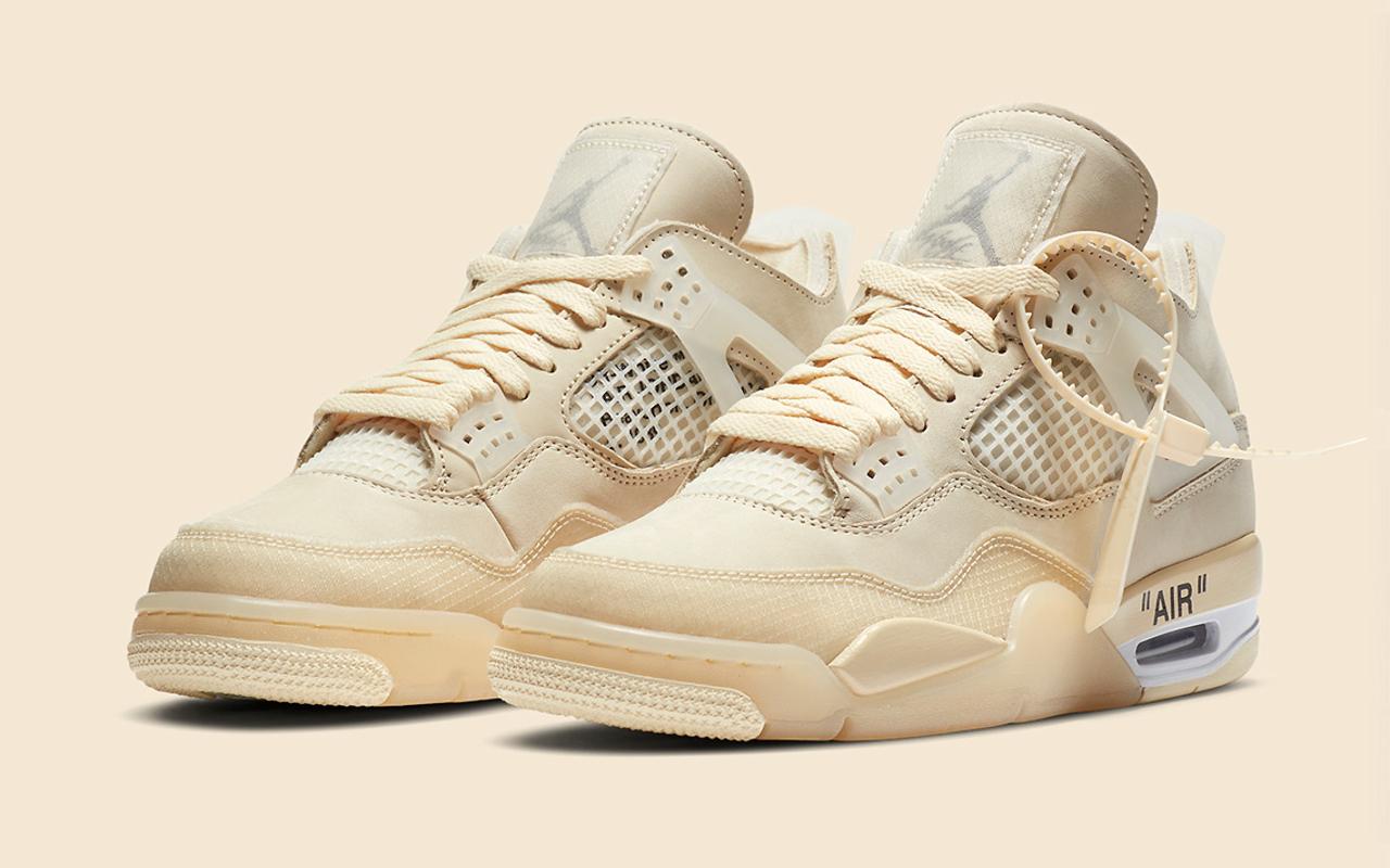 Off White x Air Jordan 4 ''Sail'' CV9388 100 Sneaker Style