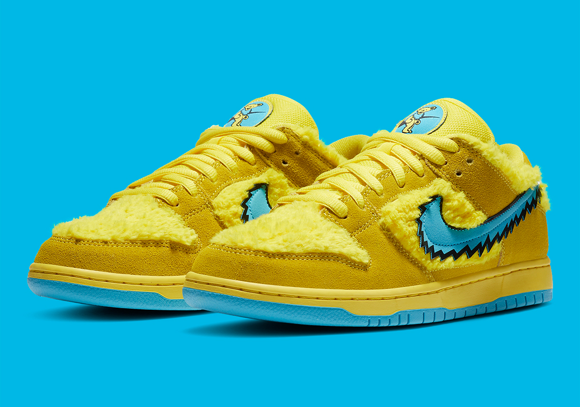 Grateful Dead x Nike SB Dunk ''Opti Yellow'' - CJ5378-700
