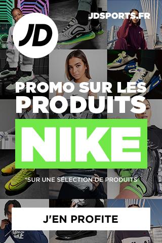 Promo sur les produits Nike chez JD Sports