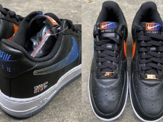 KITHNike Air Force 1 ''NYC'' ''Black''
