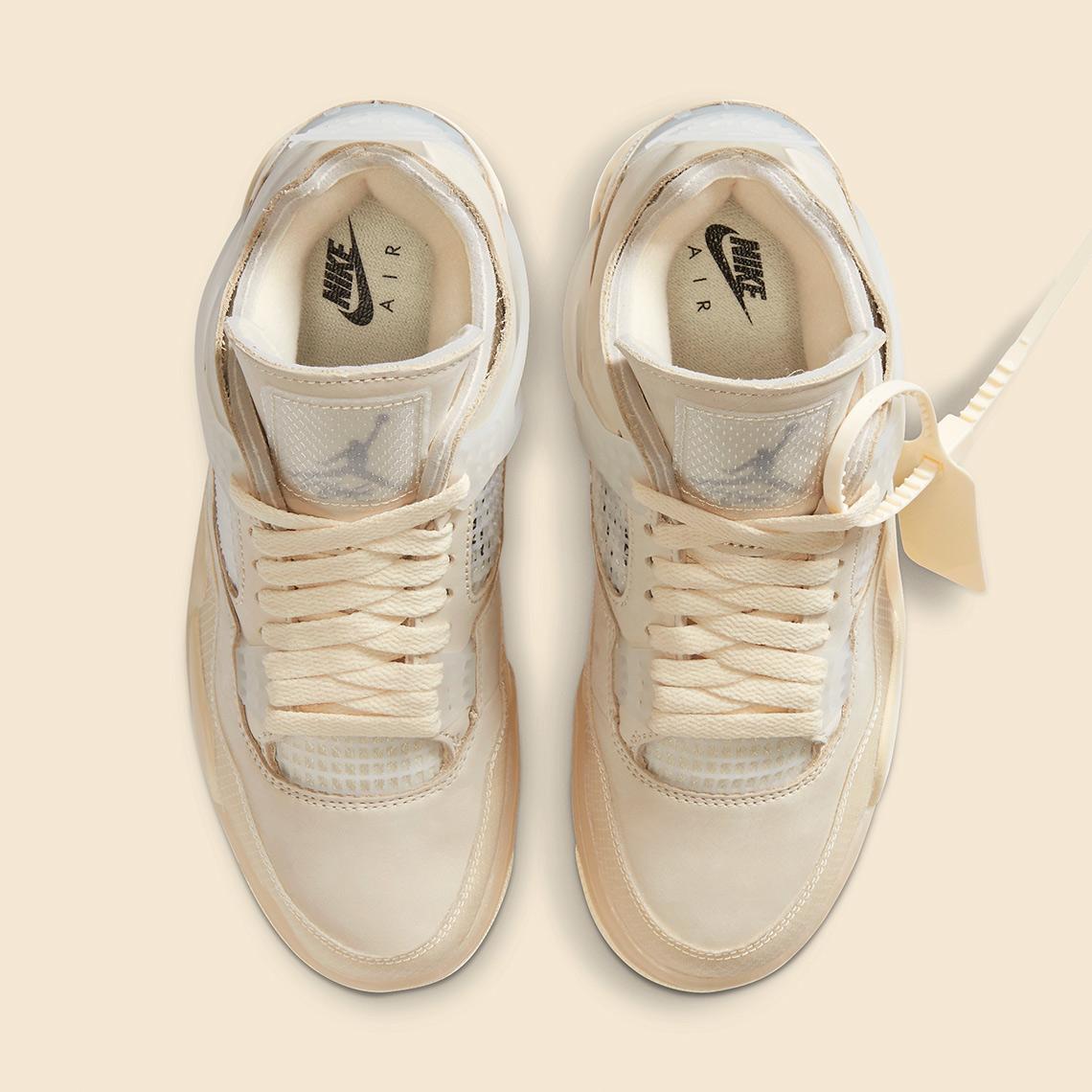 Off-White x Air Jordan 4 ''Sail'' - CV9388-100