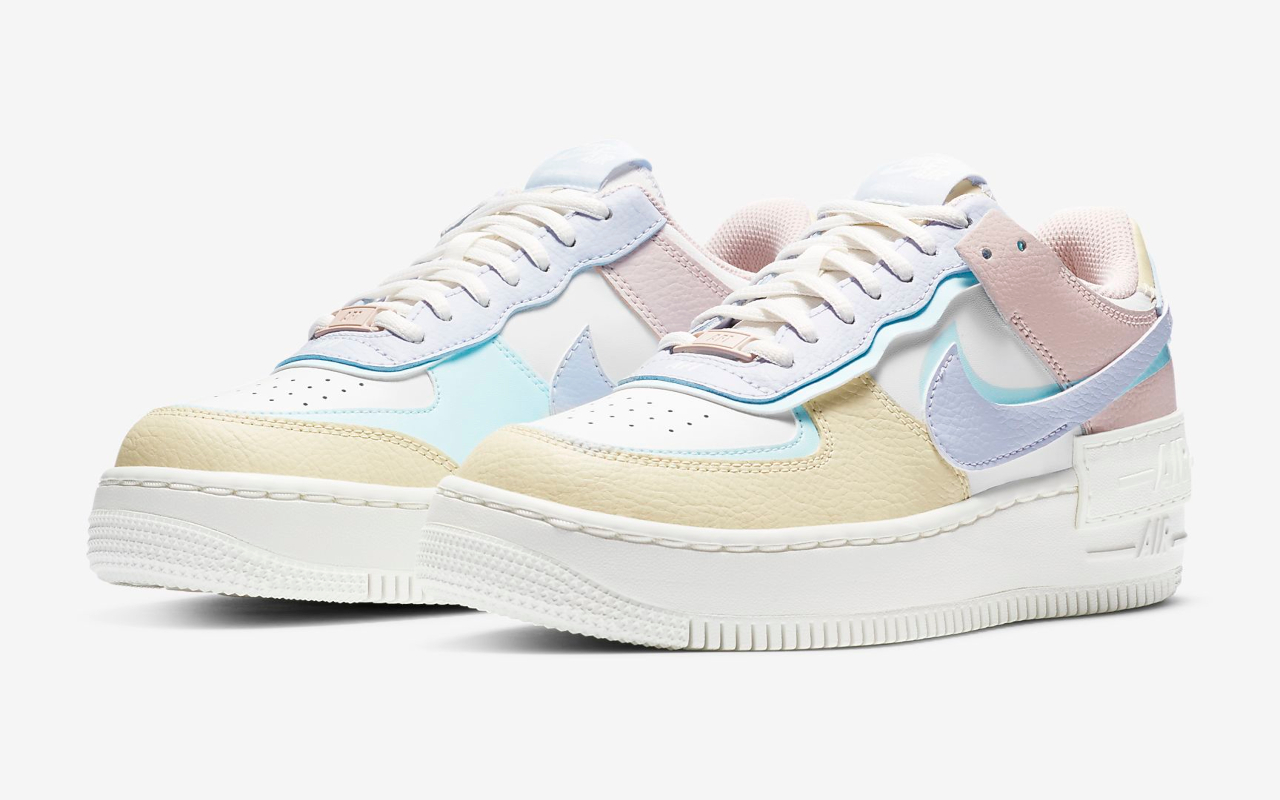 chaussure nike air force one pastel
