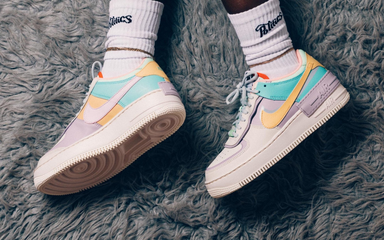 air force 1 shadow femme fluo