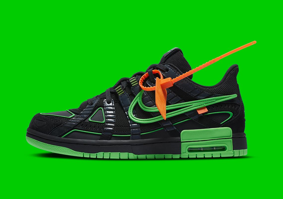 Off-White x Nike Air Rubber Dunk ''Green Strike'' - CU6015-001