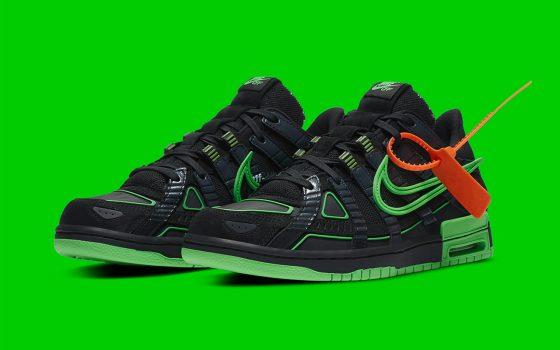 Off-White x Nike Air Rubber Dunk ''Green Strike'' - CU6015-001