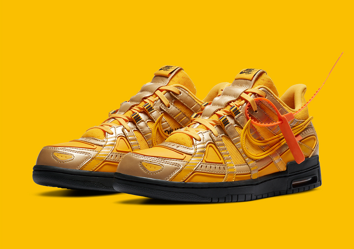 Off-White x Nike Air Rubber Dunk ''University Gold'' - CU6015-700