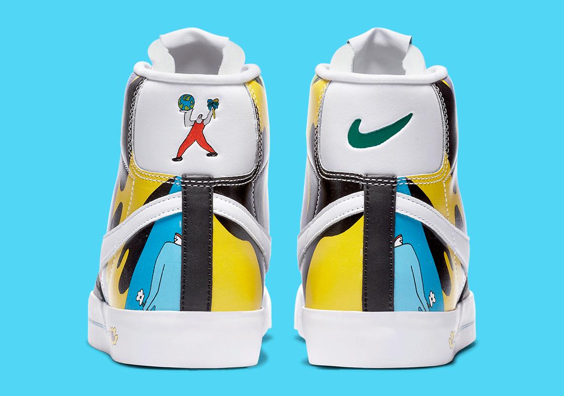 Ruohan Wang x Nike Blazer Mid '77 Flyeather - CZ3775-900