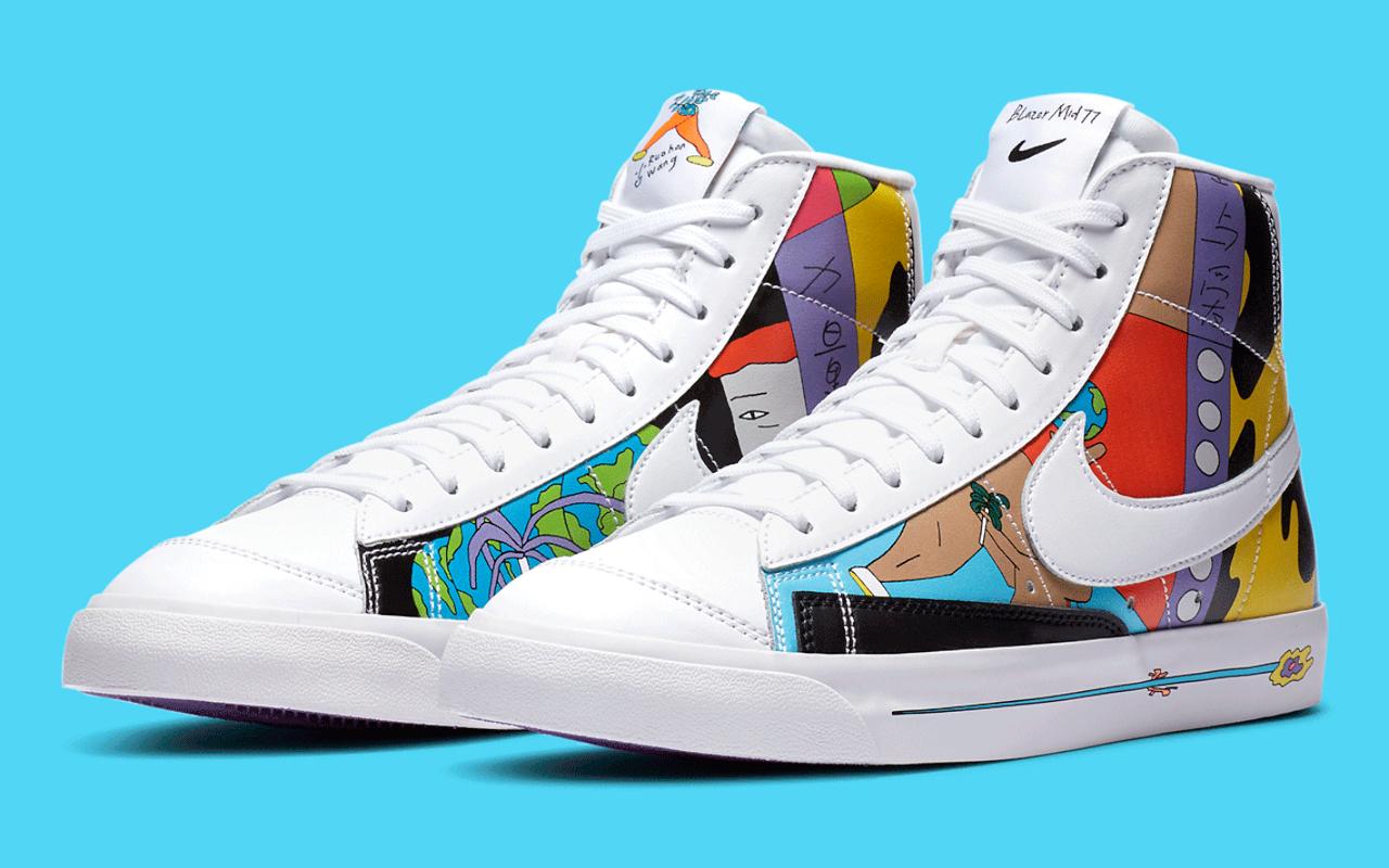 Ruohan Wang x Nike Blazer Mid '77 Flyeather - CZ3775-900 - Sneaker ...