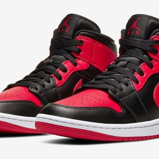 Air Jordan 1 Mid ''Bred''/''Banned'' - 554724-074