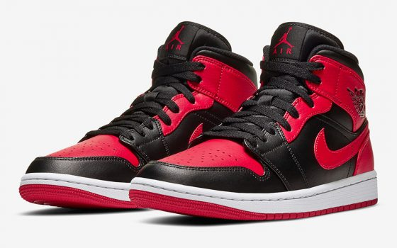 Air Jordan 1 Mid ''Bred''/''Banned'' - 554724-074