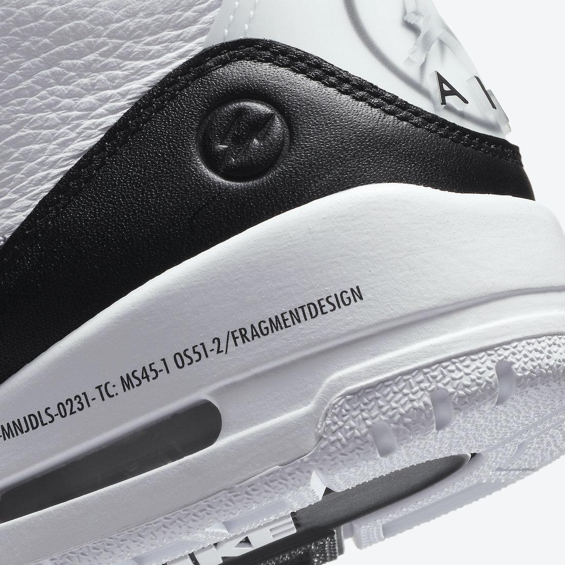 Fragment Design x Air Jordan 3 Retro SP - DA3595-100