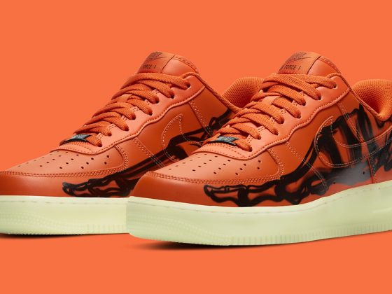 Nike Air Force 1 Low ''Orange Skeleton'' - CU8067-800