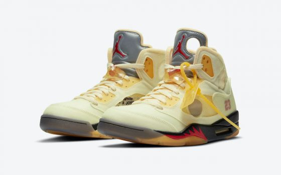 Off-White x Air Jordan 5 Retro ''Sail'' - DH8565-100