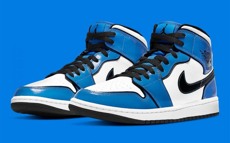Air Jordan 1 Mid ''Signal Blue'' - DD6834-402