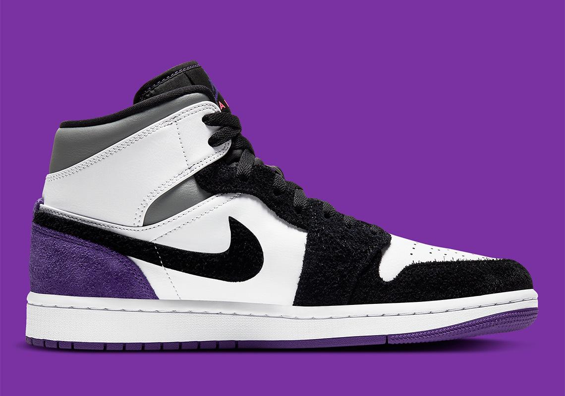 Air Jordan 1 Mid ''Varsity Purple'' - 852542-105