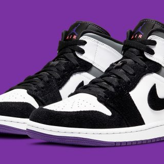 Air Jordan 1 Mid ''Varsity Purple'' - 852542-105