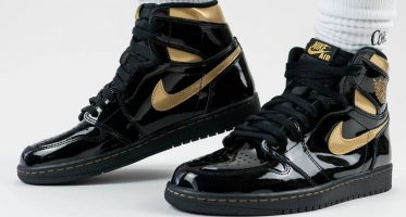 Air Jordan1 Retro High OG ''Black/Metallic Gold''