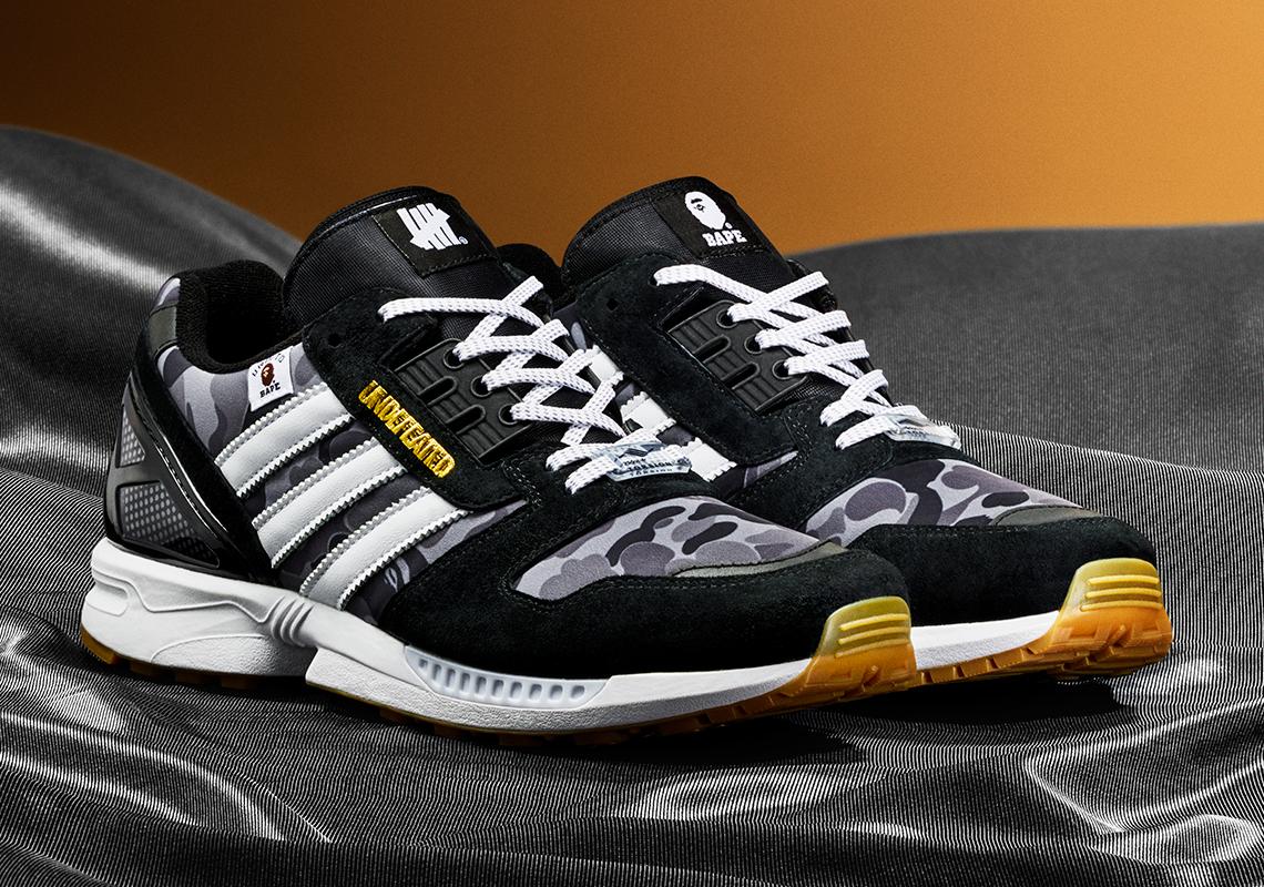 BAPE x Undefeated x adidas ZX 8000 ''Black'' - FY8852