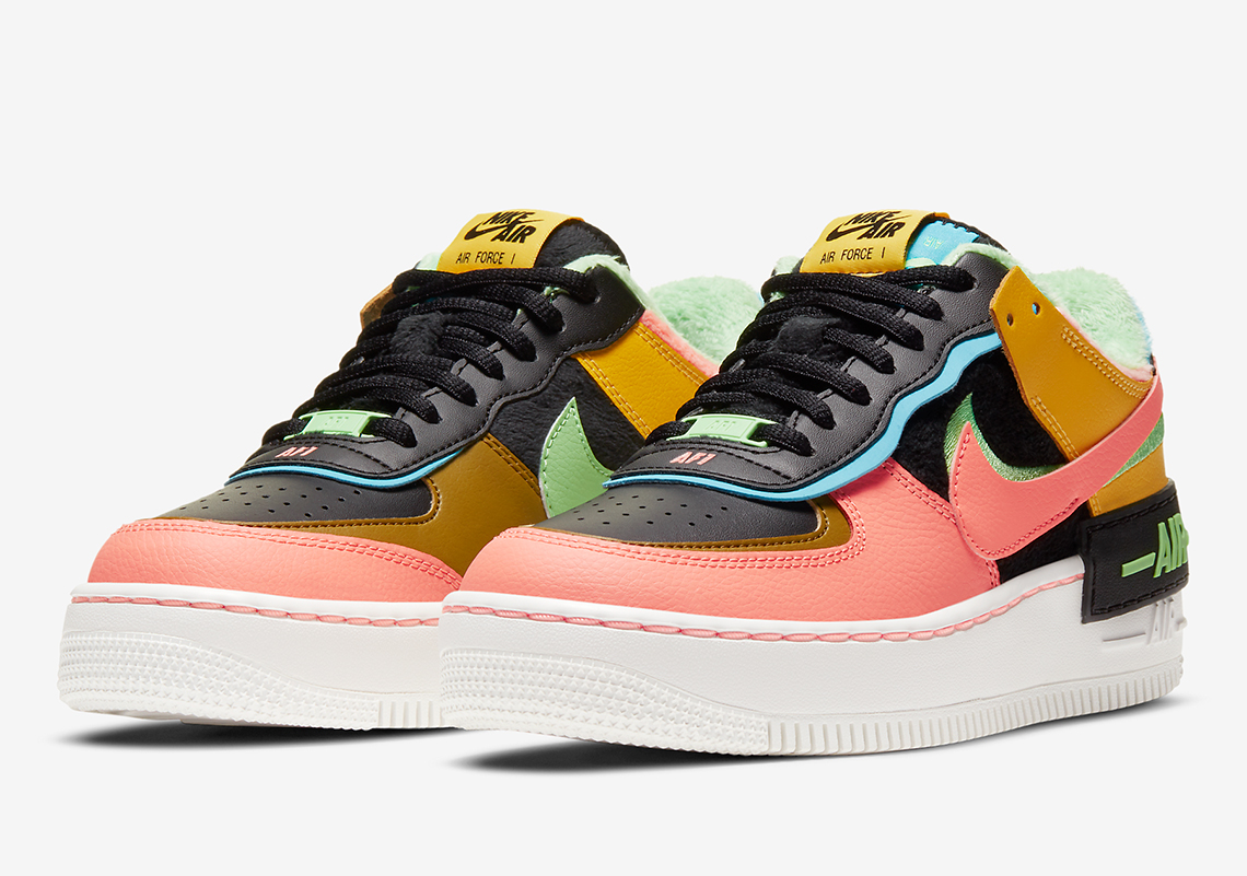 Nike Air Force 1 Shadow SE ''Solar Flare/Atomic Pink'' - CT1985-700