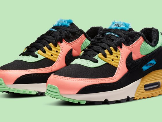 Nike WMNS Air Max 90 PRM ''Atomic Pink/Solar Flare'' - CT1891-600