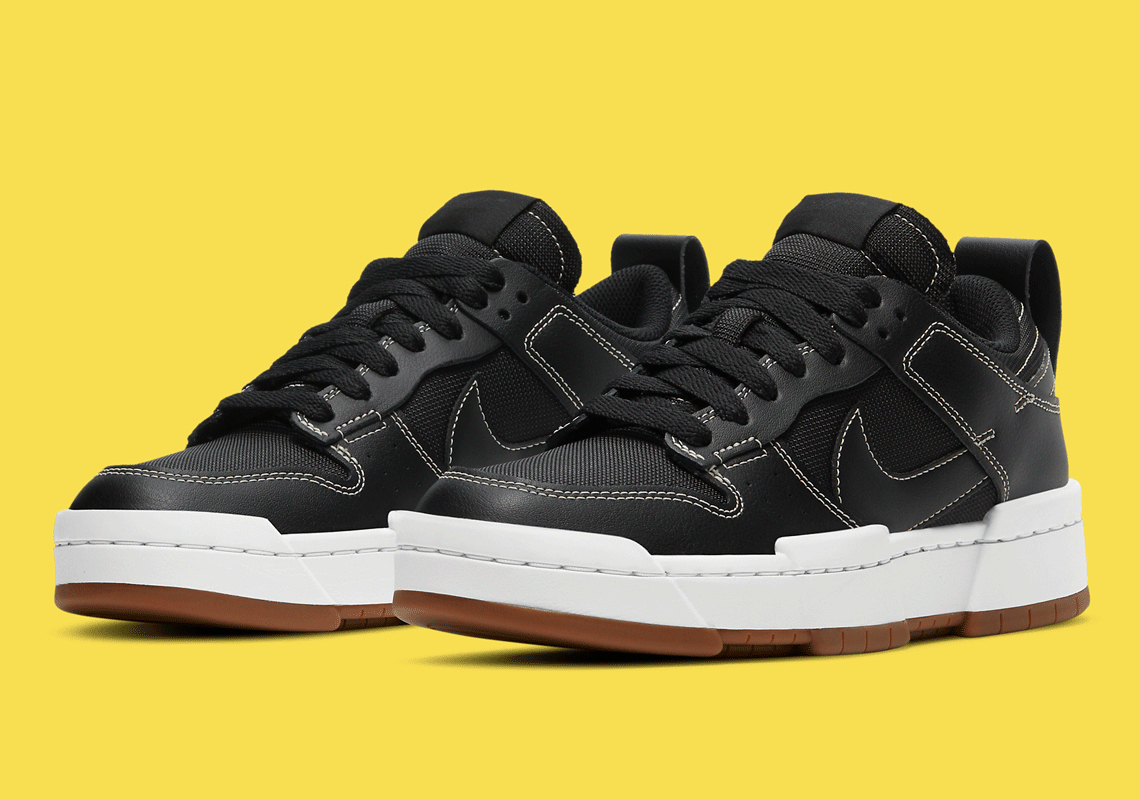 Nike WMNS Dunk Low Disrupt ''Black/Fossil/Gum Med Brown'' - CK6654-002