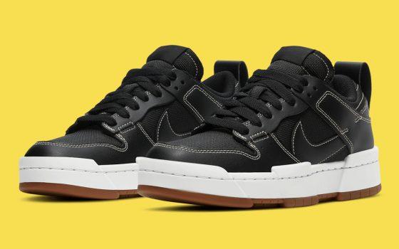Nike WMNS Dunk Low Disrupt ''Black/Fossil/Gum Med Brown'' - CK6654-002