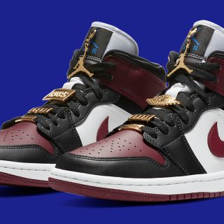Air Jordan 1 Mid WMNS ''Dark Beetroot''/''Gold Pendants'' - CZ4385-016