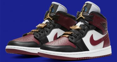Air Jordan1 Mid ''Dark Beetroot''/''Gold Pendants''