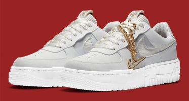 Nike WMNS Air Force 1 Low Pixel ''Grey Gold Chain'' - DC1160-100 ...