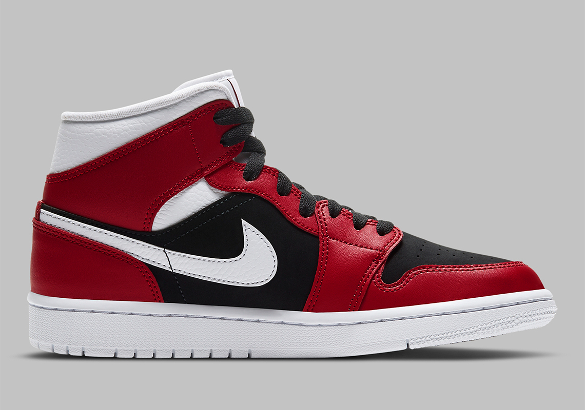 Air Jordan 1 Mid WMNS ''Gym Red/White-Black'' - BQ6472-601