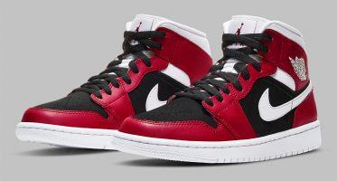 Air Jordan1 Mid ''Gym Red/White-Black''