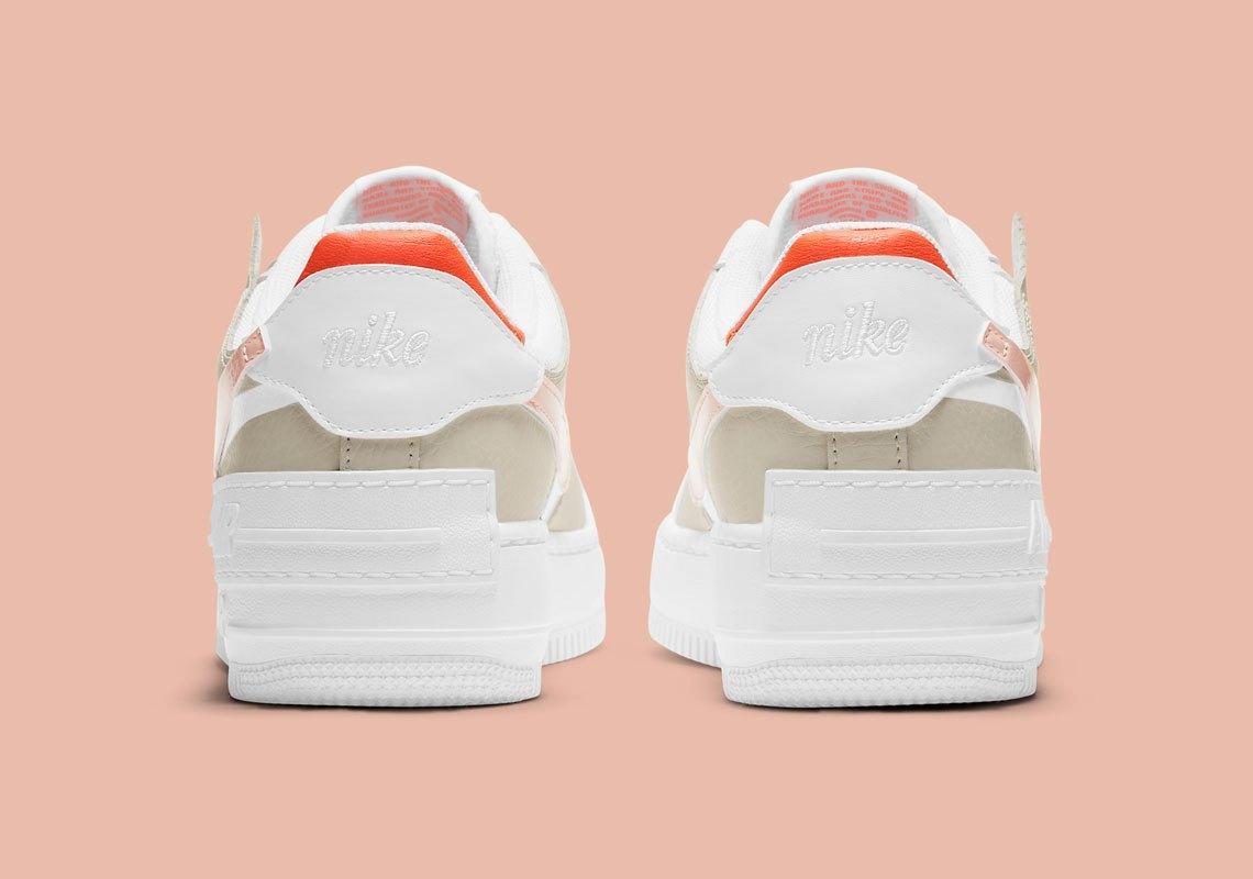Nike Air Force 1 Shadow ''Crimson Tint/Bright Mango'' - DH3896-100