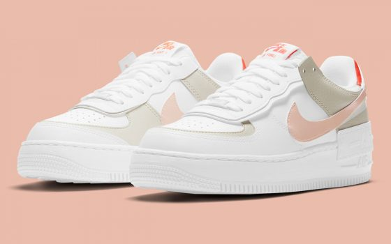 Nike Air Force 1 Shadow ''Crimson Tint/Bright Mango'' - DH3896-100