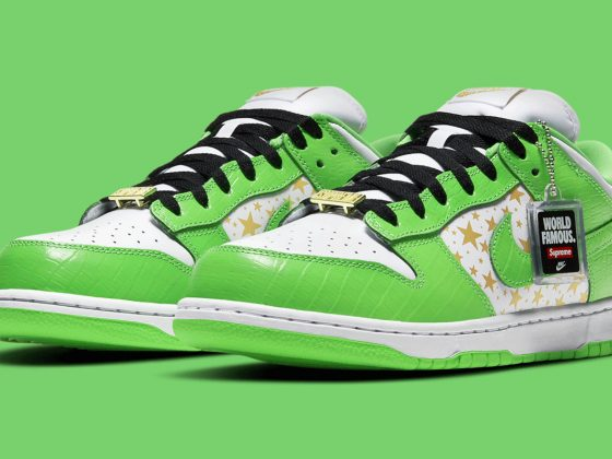 SUPREME x Nike SB Dunk Low ''Green'' - DH3228-101