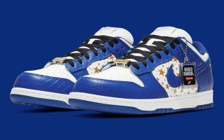 SUPREME x Nike SB Dunk Low ''Hyper Blue'' - DH3228-100