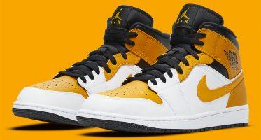 Air Jordan1 Mid ''University Gold''