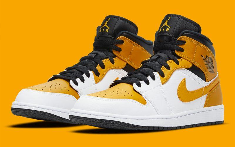 Air Jordan 1 Mid ''University Gold'' - 554725-170