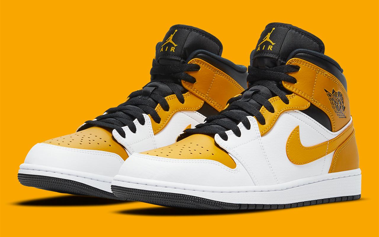 Air Jordan 1 Mid ''University Gold'' - 554725-170 - Sneaker Style