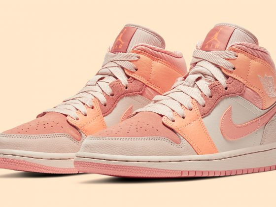 Air Jordan 1 Mid ''Apricot Orange'' - DH4270-800