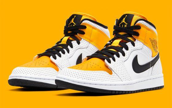 Air Jordan 1 Mid ''Laser Orange'' - BQ6472-107