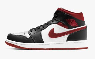 Air Jordan 1 Mid ''Metallic Red'' - 554724-122