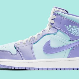 Air Jordan 1 Mid ''Purple Aqua'' - 554725-500