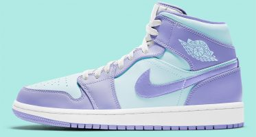 Air Jordan1 Mid ''Purple Aqua''