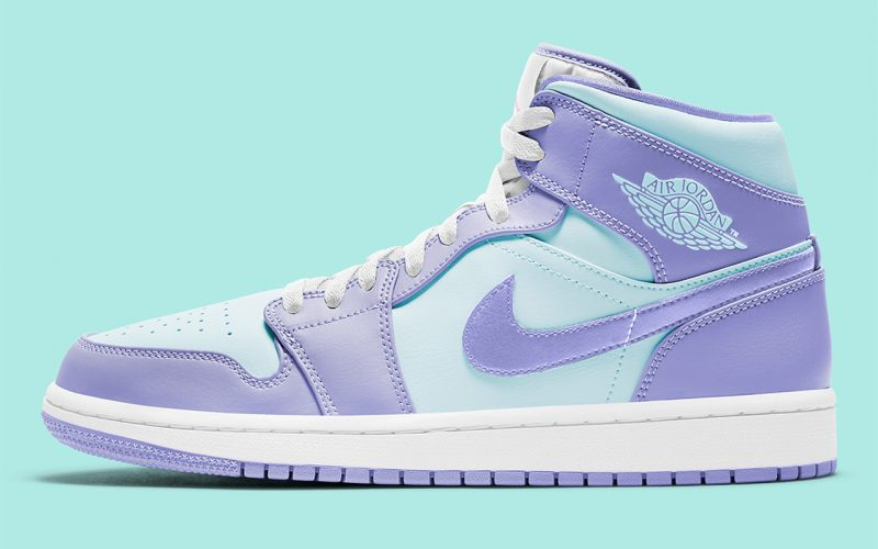 Air Jordan 1 Mid ''Purple Aqua'' - 554725-500